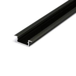 Profil WIRELI BEGTIN12 J/S černý elox, 2m (metráž)-Profil vkládaný do vyfrézované drážky.